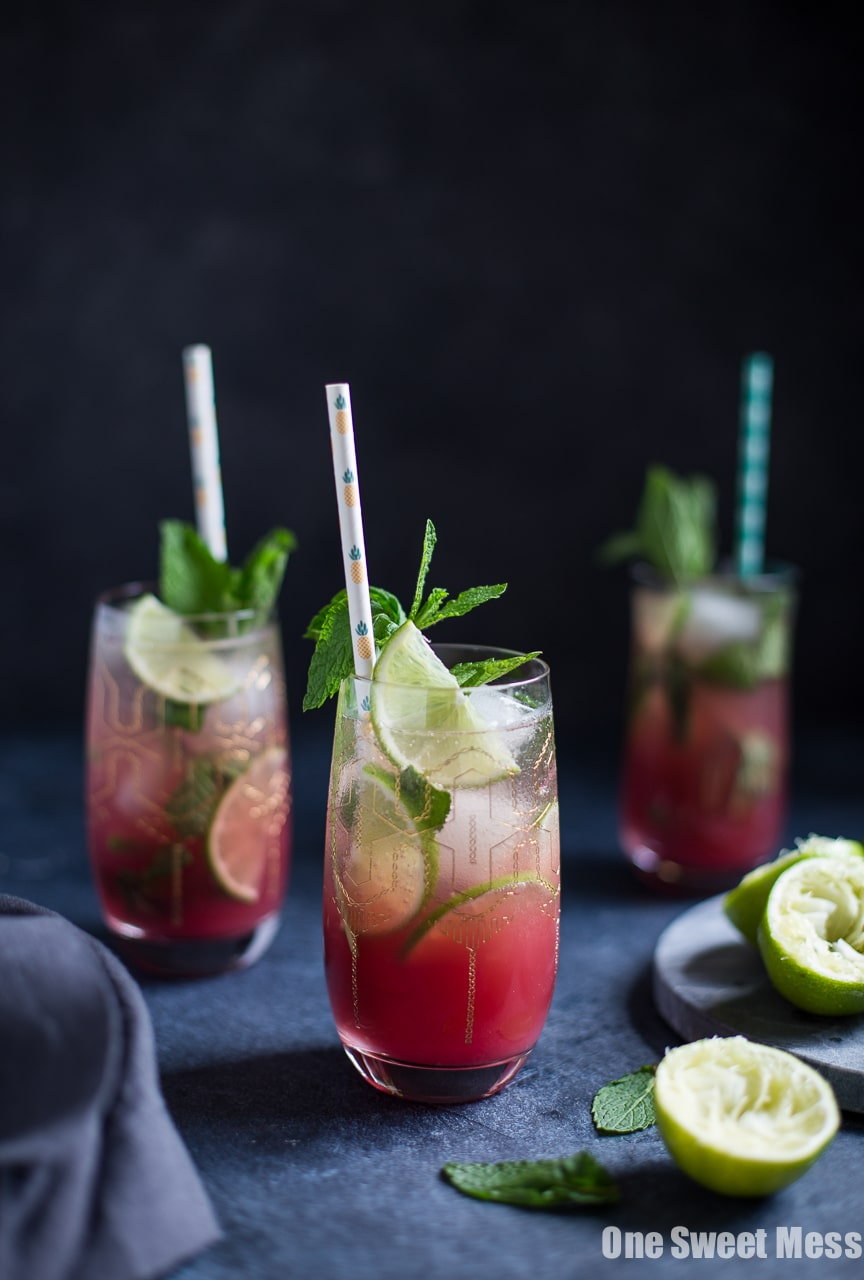 Pineapple Cranberry Mojito
