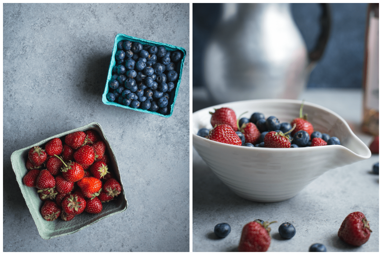 No-Bake Lemon Cheesecake with Rosé Glazed Berries