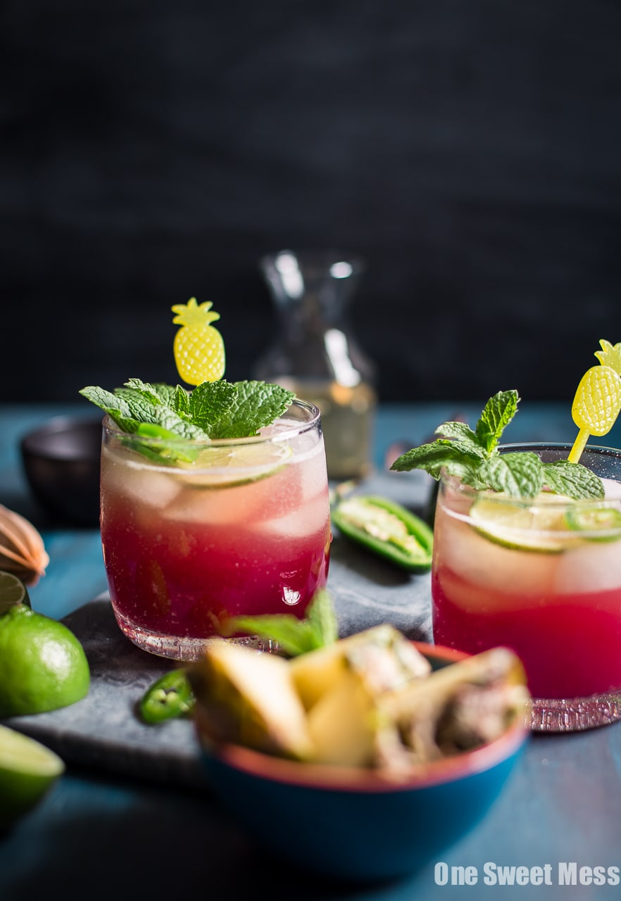 Cranberry Pineapple Jalapeno Margarita