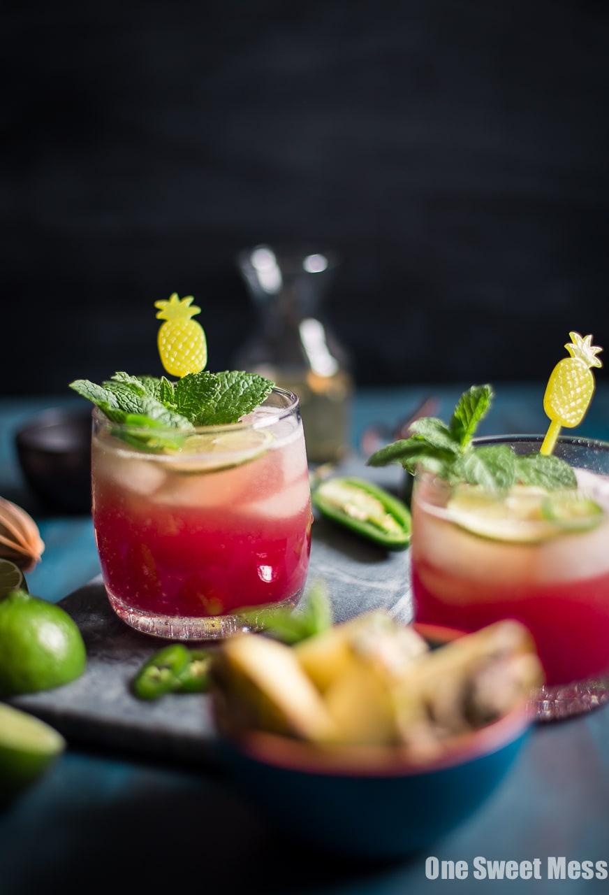 Cranberry Pineapple Jalapeno Margarita