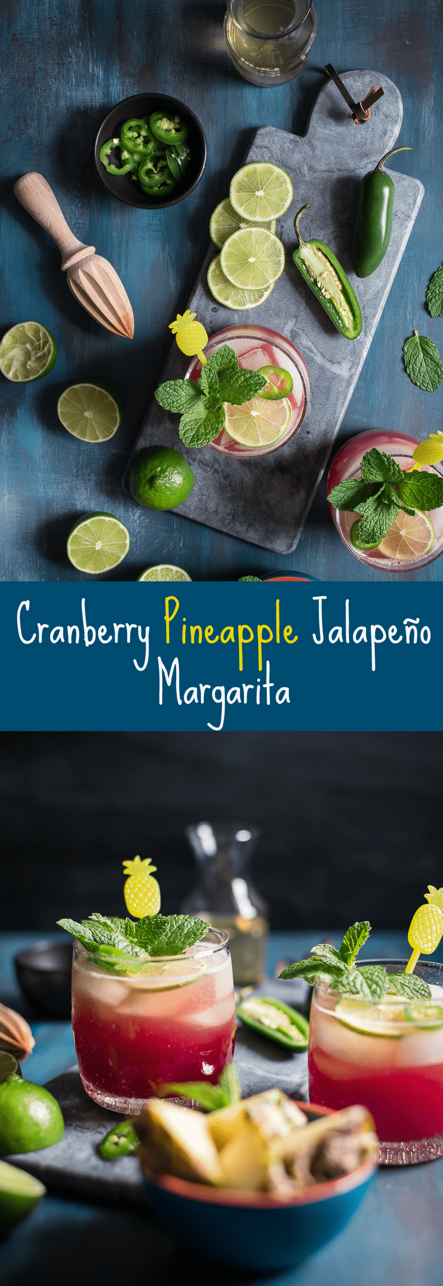 Cranberry Pineapple Jalapeno Margaritas