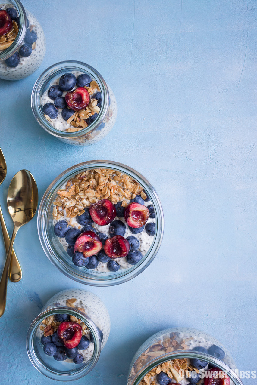 This Very Vanilla Chia Pudding is gluten-free, vegan-friendly, naturally sweetened, and high in protein. It's a great on-the-go healthy breakfast option.
