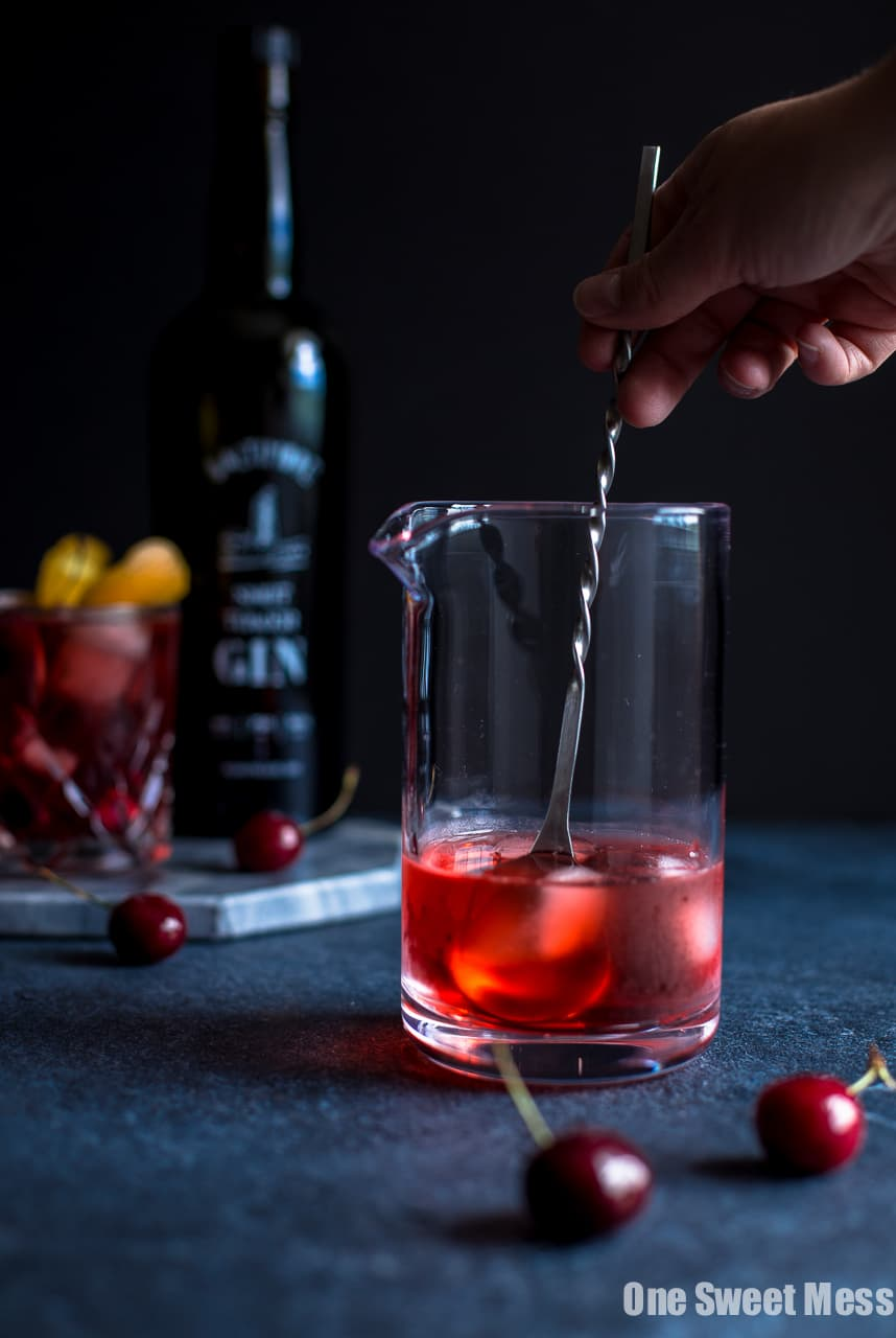 Cherry Negroni Cocktail