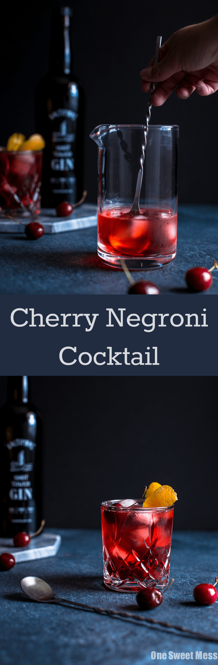 Cherry Negroni Cocktail