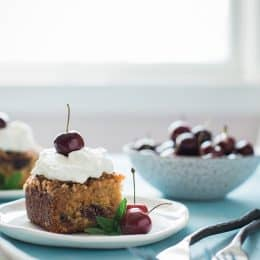 Pecan Glazed Cherry Buttermilk Cake