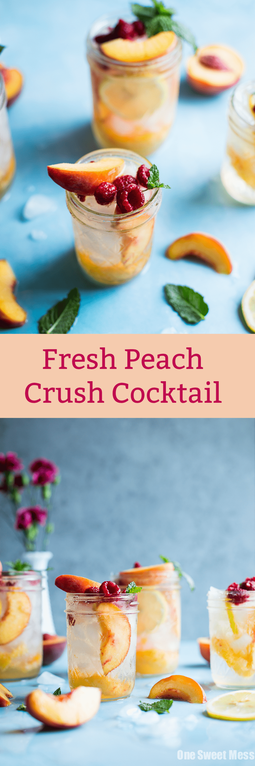 Fresh Peach Crush Cocktail: This summer inspired cocktail doesn't skimp on ripe peach flavor.