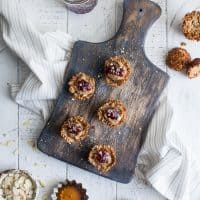 Honey Almond Butter Mini Granola Cups {Gluten-Free + Naturally Sweetened}