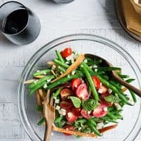 Grilled Corn, Red Pepper and Green Bean Salad {Gluten-Free + Vegan}