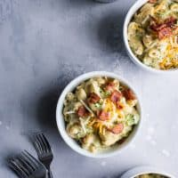 Bacon Broccoli Mac and Cheese - This budget friendly meal will happily feed a family of four for $10