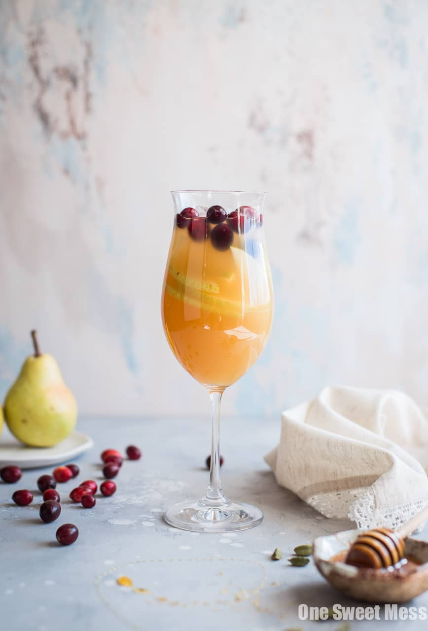 Honey Pear Cardamom Sangria