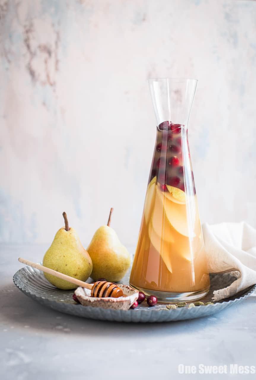 Honey Pear Cardamom Sangria