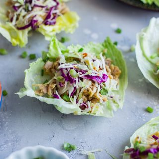Gluten-Free Maple Mustard Pulled Chicken Lettuce Wraps