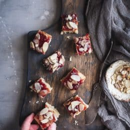 Gluten-Free Cherry Almond Shortbread Bars