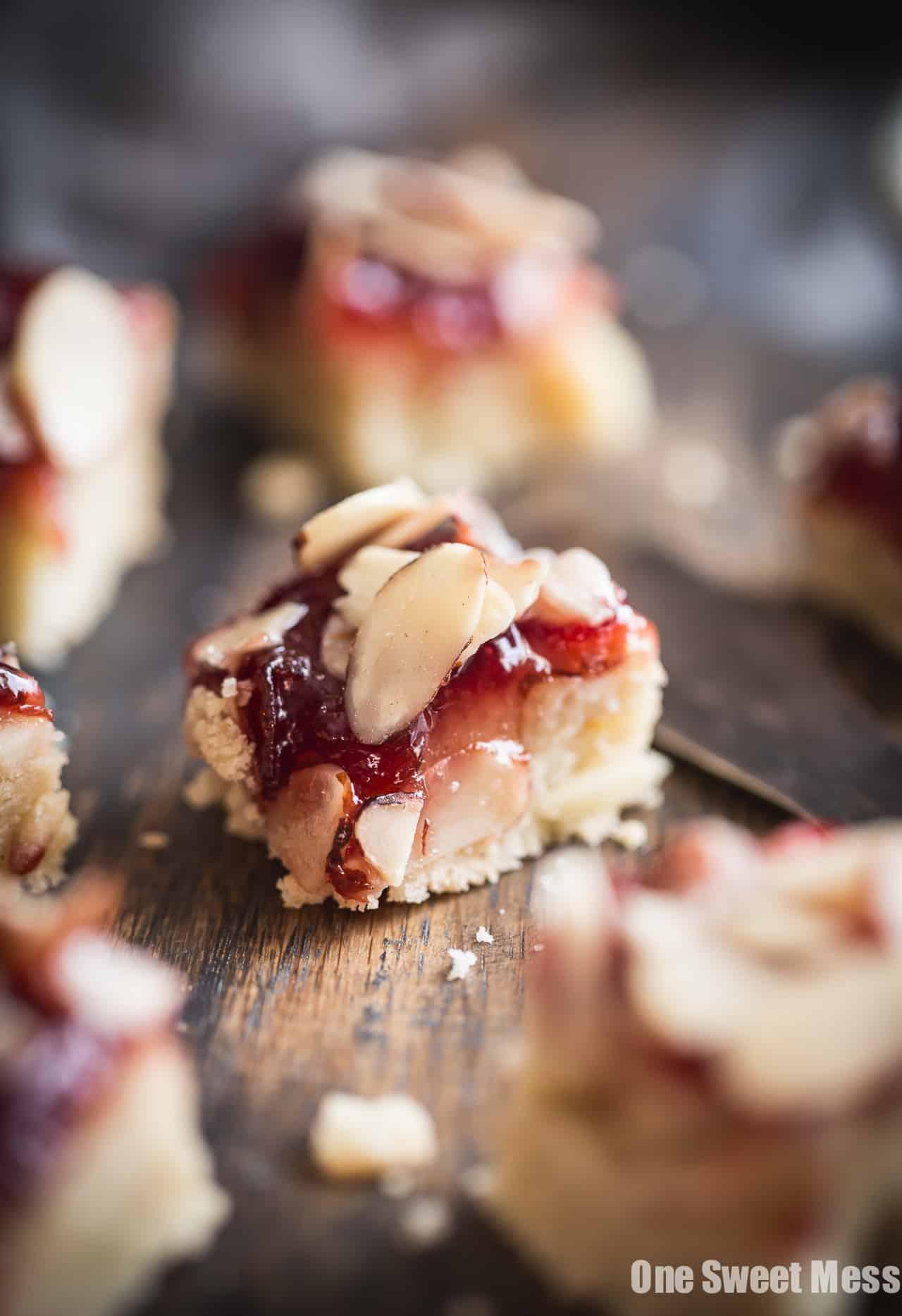 Gluten-Free Cherry Almond Shortbread Bars