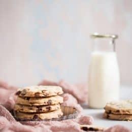 Gluten-Free Chocolate Chip Shortbread Cookies