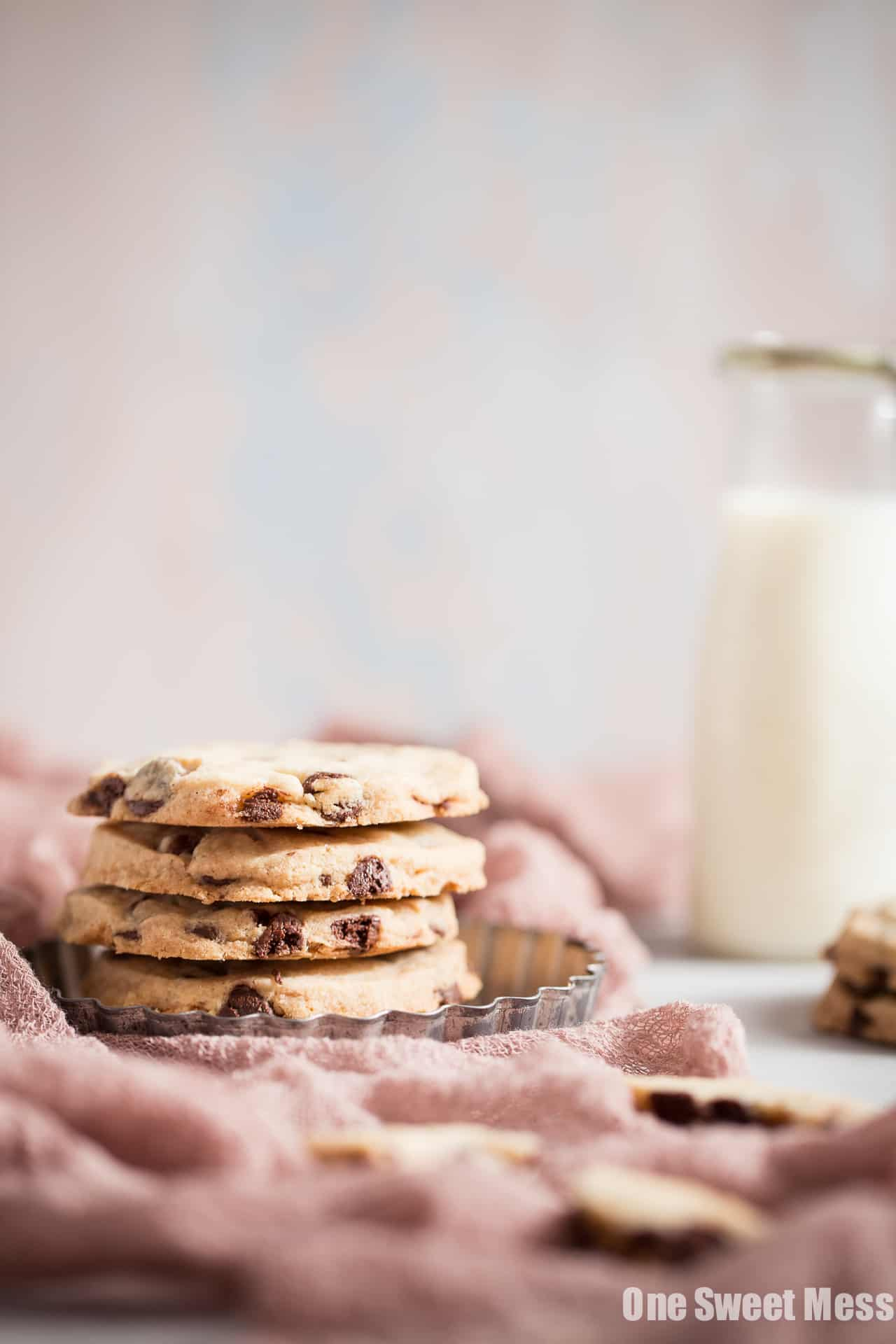 Gluten-Free Chocolate Chip Shortbread Cookies