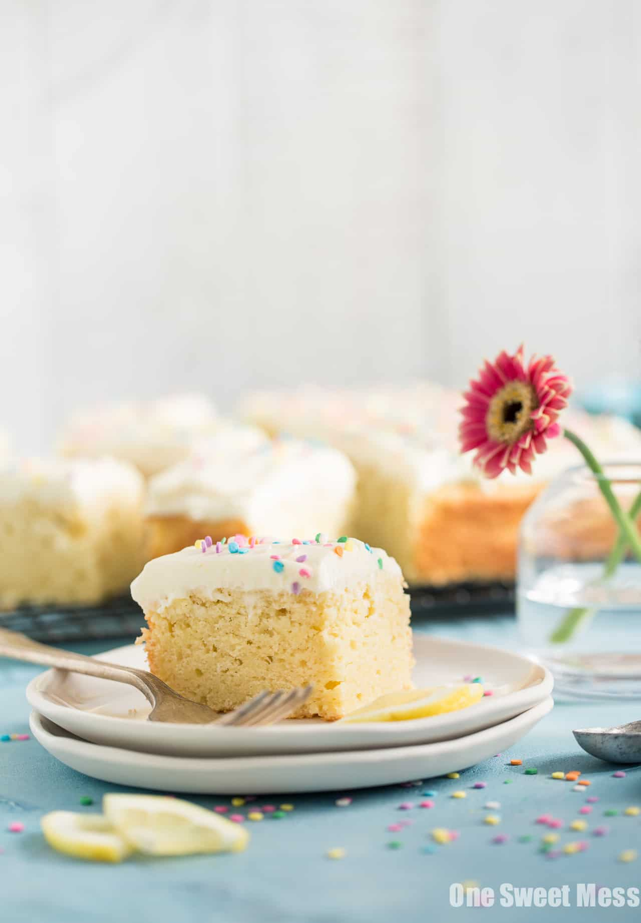 Gluten-Free Lemon Buttermilk Cake with Cream Cheese Frosting