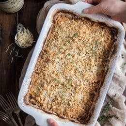 Potato & Leek Gratin: This creamy spring side dish is loaded with cheese and topped with a toasted walnut crumble.