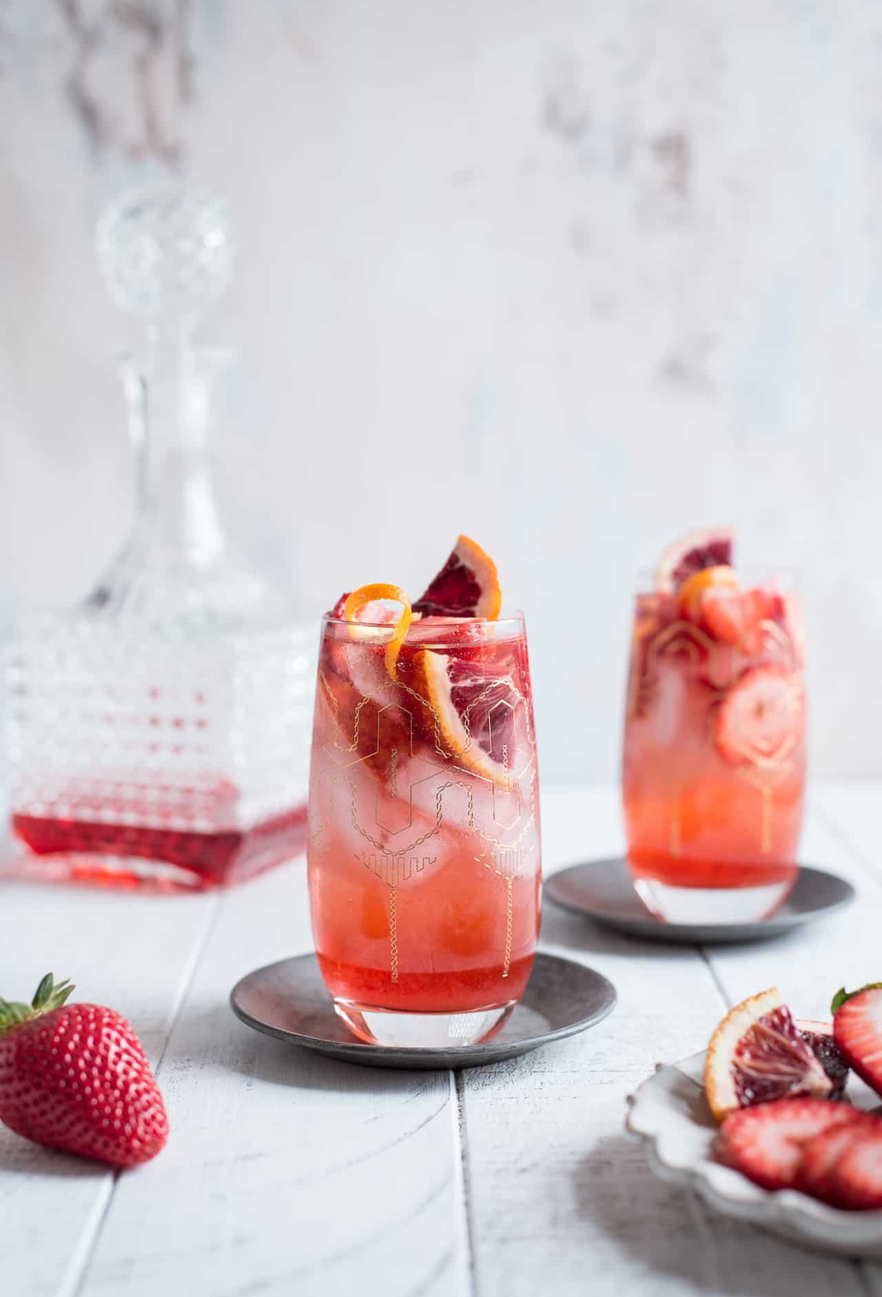 Strawberry Campari Gin Spritz