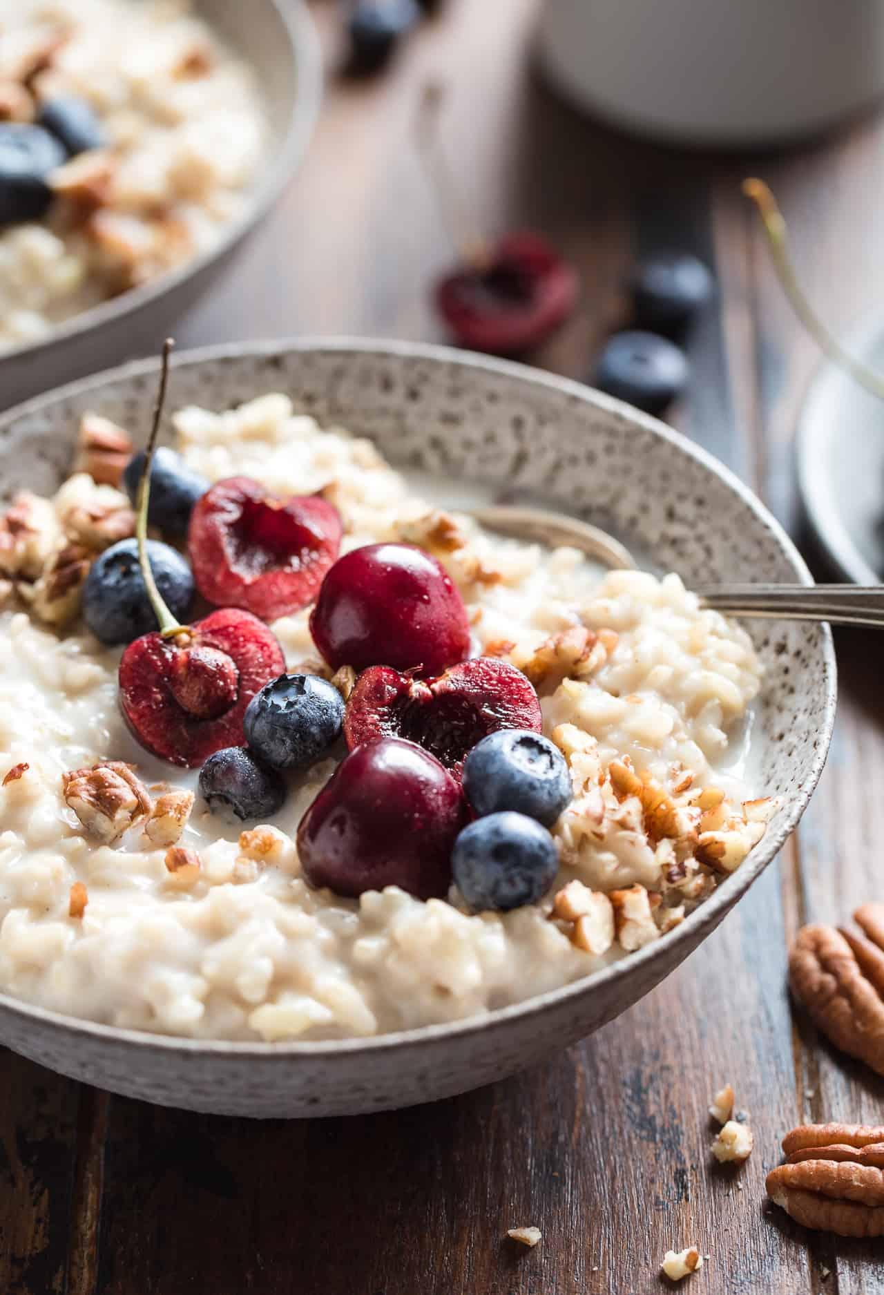 Brown Rice Breakfast Pudding {Gluten-Free, Vegan & Naturally Sweetened}
