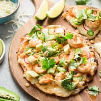 Shrimp Banh Mi Flatbread Pizza