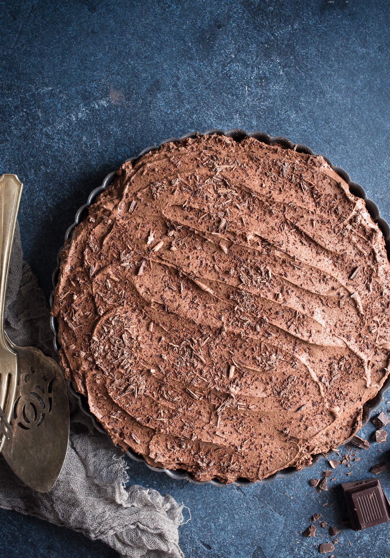 Gluten-Free Chocolate Stout Mousse Tart with Pretzel Peanut Crust