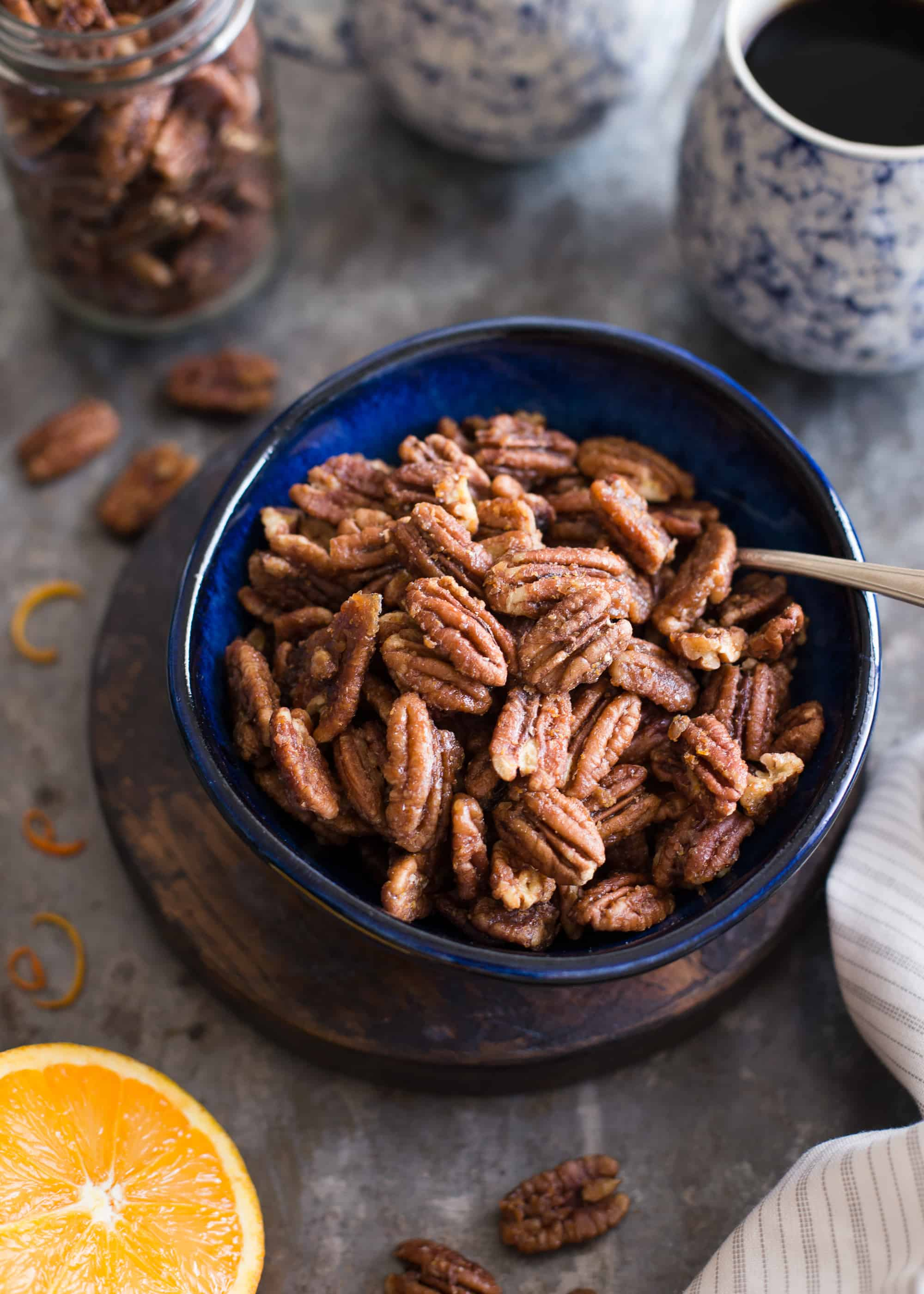 Maple-Orange Roasted Pecans | This naturally sweetened, gluten-free snack is bursting with the flavors of maple and orange.